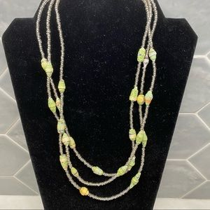Teng Yue Compressed Paper Beads Necklace